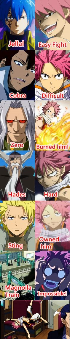 I think that its really hard fighting cobra like can you imagine it? Btw jellal is stronger than natsu however natsu fought him and won bcz he ate etherion so yea Fairy Tail Meme, Fairy Tail Quotes, Fairy Tail Art, Fairy Tail Guild, Fairy Tail Ships, Me Anime, Anime Life, Manga Anime, Fairy Tail Family