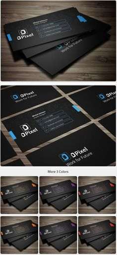 Multiple-Colors-Business-Card