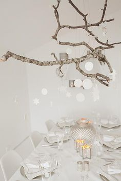 white inspiration... ideas coming to mind to make dining room light.