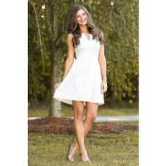 EVERLY:Simply Stunning Dress-Ivory - $49.00