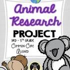 Animal Research Project (Common-Core Aligned)  Easy-to-use research writing unit that keeps kids engaged!!  (suitable for 3rd-5th GRADE -- 30 pages)
