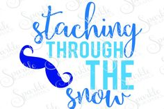 Staching Through The Snow Cut File Winter SVG By Sparkle Graphics