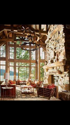 Cabin ideas (Fireplace stones)
