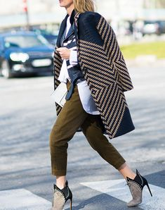 This spring sport a lightweight coat.