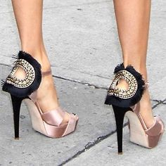 whoa....heels. ..... Now I know no body would have the same shoes as you would.  I do like them tho