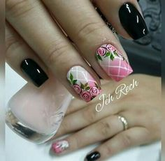 Glitter Nail Art, Nail Art Diy, Diy Nails, Spring Nails, Summer Nails, Coffin Nails, Acrylic Nails, Nails 2017, Flower Nails