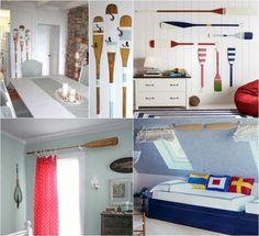 Superb maritime deko ideen paddel wanddeko gardinenstange wandhacken