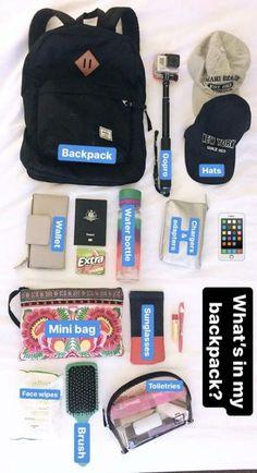 travel essentials Best Camping Essentials For Girls Backpacking Ideas Travel Bag Essentials, Road Trip Essentials, Road Trip Hacks, Airplane Essentials, School Essentials, Travel Necessities, Road Trips, Travel Packing Checklist, Travelling Tips