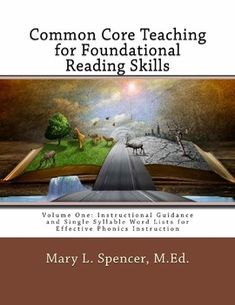 This pdf is an electronic version of my first book, Common Core Teaching for Foundational Reading Skills. It includes numerous word lists to support whole word decoding instruction in single syllable phonics skills outlined in the Common Core State Standards for English Language Arts and Literacy.
