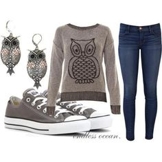 autum outfit | autumn, autumn outfit, converse, cool - inspiring picture on Favim.com
