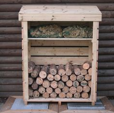 Easy and Creative DIY Firewood Rack and Storage Ideas tag: outdoor firewood rack ideas, firewood storage rack ideas, indoor firewood rack ideas, firewood rack cover diy, ideas for firewood rack. Indoor Firewood Rack, Firewood Stand, Firewood Holder, Firewood Storage, Wood Storage Sheds, Wood Shed, Diy Storage, Outdoor Storage, Storage Ideas