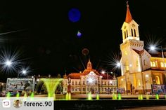 #Repost: @ferenc.90  Zrenjanin city center:  On the right we can see the Catholic Church which is built in 1868. Next to the church in the middle of the photo is the city hall- built in 1820 (rebuilted in 1890). Zrenjanin population - 75.743  Hope you liked it enjoy!   #zrenjanin #ig_vojvodina #longexposure #cityscape #lake #bridge #church #relax #ig_serbia #photooftheday #reflection #followtrain #dslrphotography #nikon #zr #stars #citylife #fontana #fountain #center #cityhall #light #colors…