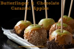 Butterfinger & Chocolate Caramel Apples