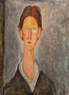 Collection Online | Amedeo Modigliani. Portrait of a Student (L'Etudiant). ca. 1918–19 - Guggenheim Museum