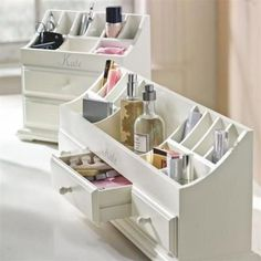 makeup organizing: pottery barn teen