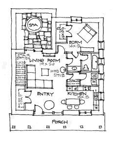 cob house floor plan - Google Search