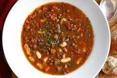 Fortify yourself for the cooler months with Jill Dupleixs hearty and versatile lentil soup. Lentil Soup Recipes, Veggie Soup, Canned Lentils, Brown Lentils, Food Test, Crock Pot Soup, Bean Soup, Healthy Soup, Savoury Dishes