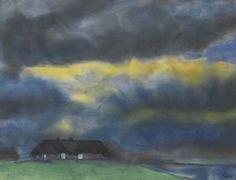 Emil Nolde (German, 1867-1956), Friesenhof, Heimat [Friesenhof, home], c.1931. Watercolour on paper, 33.2 x 43.5 cm.