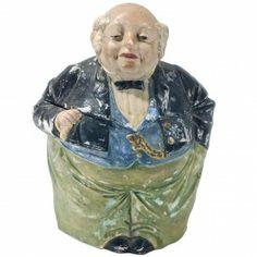 Staffordshire Jolly Gentleman Antique Tobacco Jar