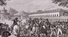 Efemérides de Madrid. 17 de marzo. 1808.- Se inicia el Motín de Aranjuez. El pueblo asalta el palacio de Manuel Godoy.
