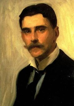 John Singer SARGENT - Portrait of Robert Brough, ca.1900 (detail)
