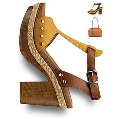 #Summer #heels, #sandals, #yellow, #70s #style, #seventies #70sstyle #tamaris