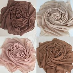 Chiffon Scarf, Chiffon Fabric, Nude Scarves, Clothing Store Interior, Hijab Style Tutorial, Luxury Office, Brown Aesthetic, Head Wrap Scarf, Clothing Photography