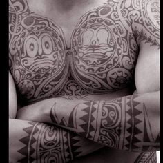 Traditional Tahitian tattoos have always played a big role in French Polynesia's culture. #IslandsOfTahiti #nofilter #tattoo #Tahiti #culture
