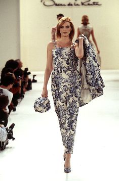 Oscar de la Renta - Ready-to-Wear Spring / Summer 1996 #Oscardelarenta #fashion #readytowear #90sfashion #vintage