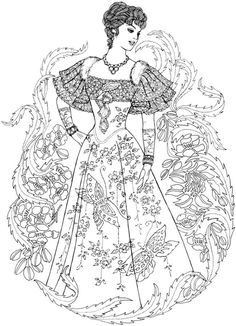 Creative Haven Art Nouveau Fashions Coloring Book - Welcome to Dover Publications
