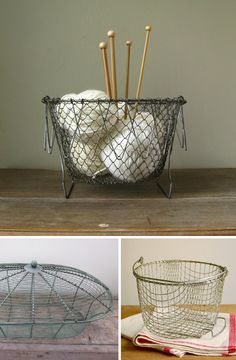 I would knit if i could have this basket.