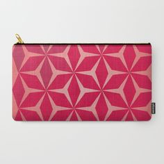A #pink #pouch with a #colorful pattern, perfect for carrying your #makeup. https://society6.com/product/flowers-and-geometry-in-pink_carry-all-pouch#67=446