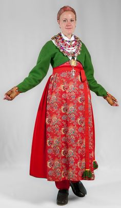 Costumes Around The World, Scandinavian Folk Art, Swedish Fashion, Folk Costume, Mother And Father, Traditional Dresses, Floral Prints, High Neck Dress, Feminine