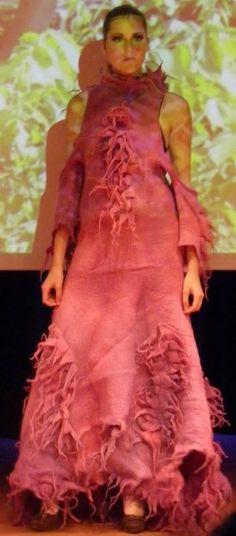 Tomas Horst felted dress design