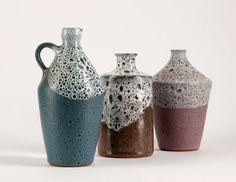 Mitte Jahrhundert Modern 3 Studio Keramik Vasen von BetterLookBack