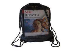 Drawstring Backpack  Size : 33cm (W) x 45cm (H) Material : Nylon + Netting 2 Cord Handles