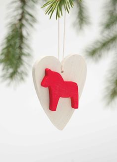 DALA HORSE ORNAMENTS These are hand-made wood from Sweden.  2.6""