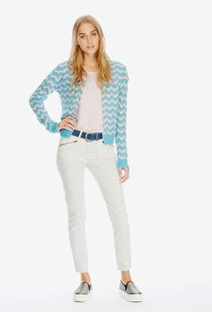 Brora - Early Spring - Women - Cashmere Wave Knit Cardigan