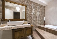 ::. Flok Tecido Adesivo .:: Bathtub, Bathroom, Tree Artwork, Log Projects, Home, Ideas, Standing Bath, Washroom, Bathtubs