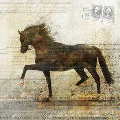 Horse Dance 01 Giclee Fine Art Print 13X19 von krokoart auf Etsy