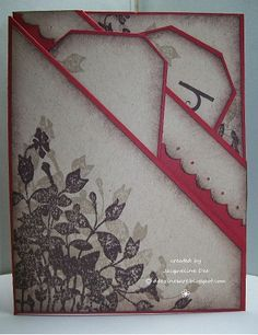 The Craft Club Blog: Double Diagonal Pocket Card Tutorial