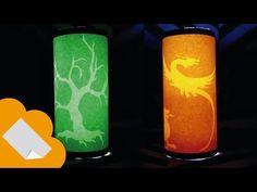 "▶ Como hacer lamparas de papel con figuras ocultas ""paper lamps hidden figures"" - YouTube"
