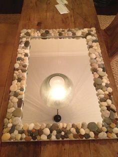pebble frame mirror - Google Search