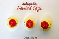 Jalapeno Deviled Eggs - LaurenConrad.com
