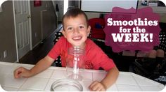 Week of Smoothies in your Freezer (Cooking with Kids)  | Subscribe: http://youtube.com/PepperScraps