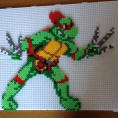 TMNT Raphael perler beads by annirenravn