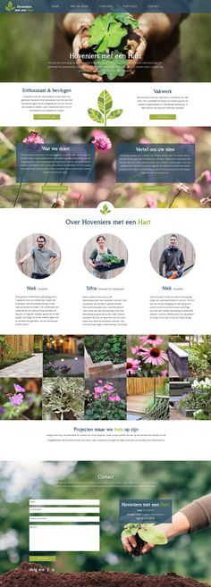 Onepage webdesign for landscaping company. By Heartbeat Design.
