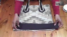 LIANA 2 - totebag handbag, made with curtain fabric