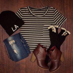 Stormy Stripe Crop Top #Fashion #ootd #stripes #croptop #style #ShopPriceless