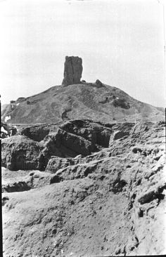Destroyed February 2015 and gone forever - Nimrud, Ruins of Ziggurat, Tower of the Ezida, the tower of the god Nebo in Borsippa (a ziggurat or Mesopotamian tower temple). Once thought to be the Tower of Babel, until the discovery of Esagila, the great temple of Morduh in Babylon in the late nineteenth century, March 1911, Gertrude Bell Archive, Newcastle University